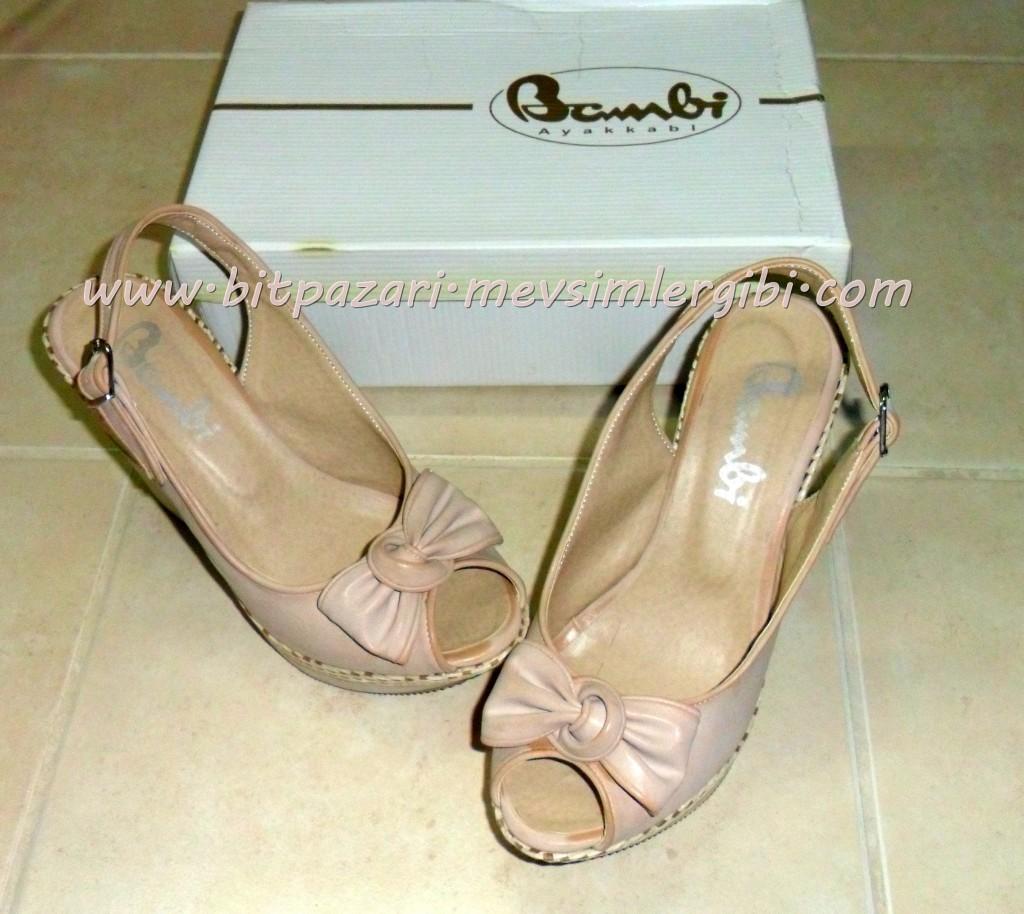 pudra pembe yazlık ayakkabı