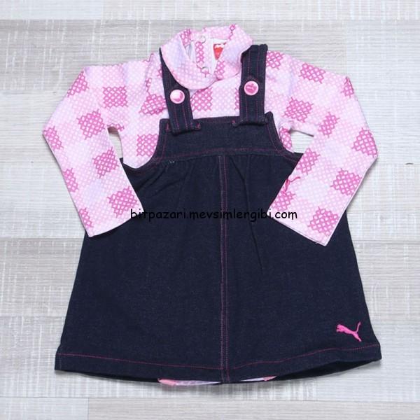 5-12 aylık bebekler için Puma bodyli elbise takımı